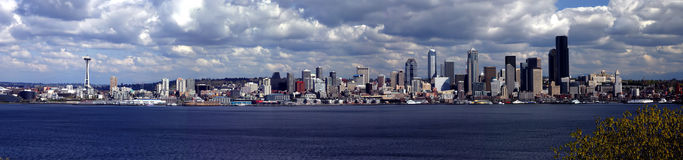 Panorama de Seattle Fotografia de Stock