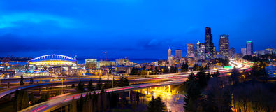 Panorama de Seattle Photos libres de droits
