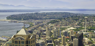 Panorama de Seattle, Washington Photos libres de droits