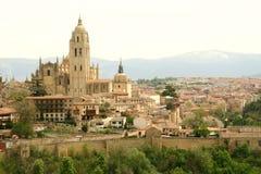 Panorama de Segovia fotografía de archivo