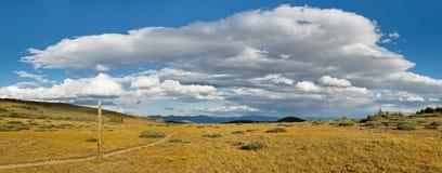 Panorama de sentier de randonnée Images libres de droits