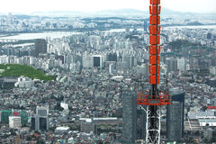 Panorama de Seoul fotos de stock