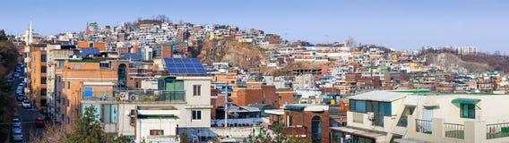 Panorama de Seoul, Coreia do Sul imagens de stock