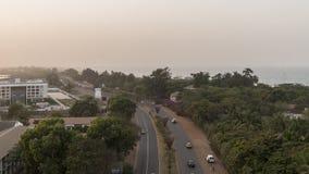 Panorama de Serrekunda Foto de archivo libre de regalías