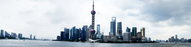 Panorama de Shangai (la Federación) Fotos de archivo