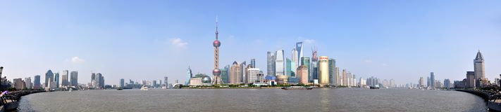 Panorama de Shanghai Pudong, China Imagem de Stock