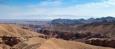 Panorama de Sharyn Canyon Photos stock