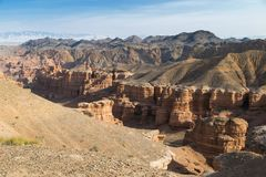 Panorama de Sharyn Canyon Image stock
