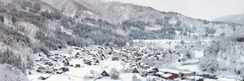Panorama de Shirakawago imagen de archivo libre de regalías
