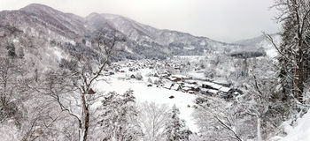 Panorama de Shirakawago imagenes de archivo