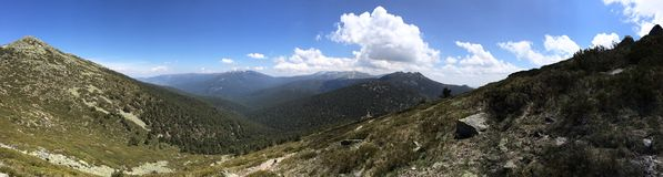 Panorama in de Siërra DE Guaderrama Stock Afbeeldingen
