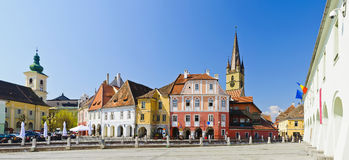 Panorama de Sibiu Fotos de Stock Royalty Free