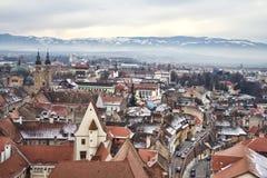 Panorama de Sibiu Imagen de archivo