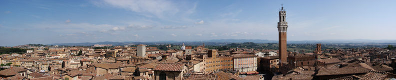 Panorama de Siena Imagenes de archivo