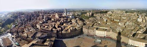 Panorama de Siena imagen de archivo