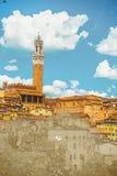 Panorama de Siena, Toscana, Italia stock de ilustración