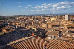 Panorama de Siena, Toscana, Italia imágenes de archivo libres de regalías