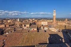 Panorama de Sienne, Toscane, Italie Images libres de droits