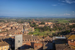 Panorama de Sienne, Toscane, Italie Photographie stock
