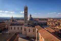 Panorama de Sienne, Toscane, Italie Image libre de droits