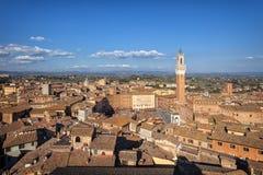 Panorama de Sienne, Toscane, Italie Photo libre de droits