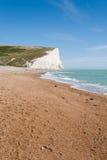 Panorama de siete acantilados de las hermanas y del mar en Brighton, Sussex Imagen de archivo libre de regalías