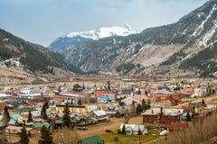Panorama de Silverton, Colorado, EUA Imagem de Stock