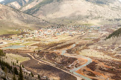 Panorama de Silverton, le Colorado, Etats-Unis Photos libres de droits