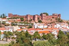 Panorama de Silves au Portugal Photographie stock libre de droits