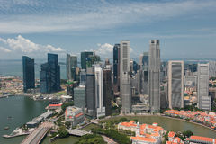 Panorama de Singapore Fotografia de Stock Royalty Free