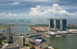 Panorama de Singapore Fotografia de Stock Royalty Free