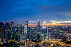 Panorama de Singapore Foto de Stock Royalty Free