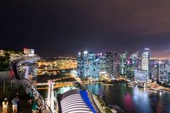 Panorama de Singapore Imagens de Stock Royalty Free
