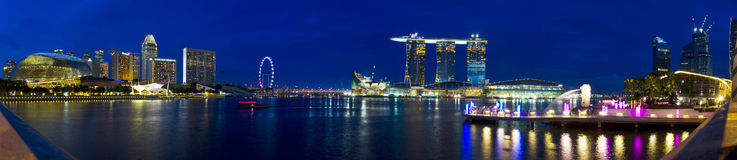 Panorama de Singapour Photographie stock