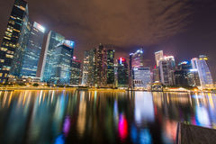 Panorama de Singapour Photos stock
