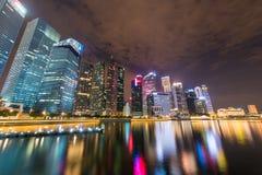 Panorama de Singapour Images libres de droits