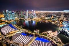Panorama de Singapur Imagen de archivo libre de regalías
