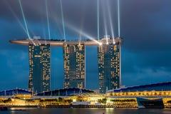 Panorama de Singapur Foto de archivo libre de regalías