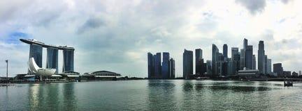 Panorama de Singapur Fotografía de archivo