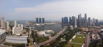 Panorama de Singapura Imagens de Stock Royalty Free
