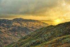 Panorama de Snowdonia Photos stock