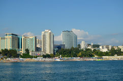 Panorama de Sochi del mar Imagen de archivo