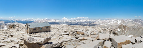 Panorama de sommet du Mont Whitney Images stock