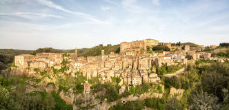Panorama de Sorano Imagen de archivo