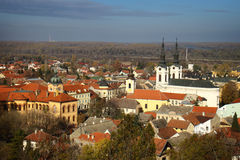 Panorama de Sremski Karlovci Fotos de archivo libres de regalías