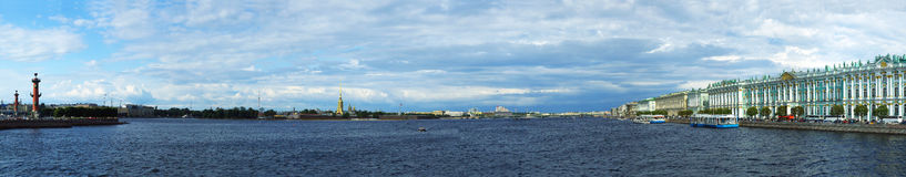 Panorama de St Petersburg Photos libres de droits
