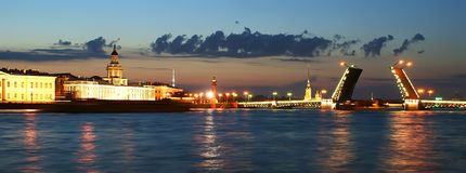 Panorama de St Petersburg, Russie Photo libre de droits