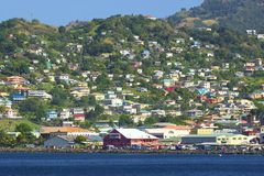 Panorama de St Vincent, grenadines Image libre de droits