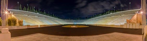 Panorama de stade de Panathinaiko (Kallimarmaro), Athènes, Grèce Photos stock