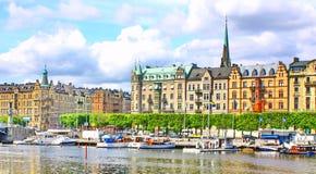 Panorama de Stockholm Photos stock